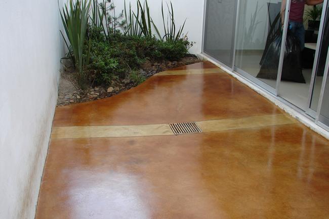 Concreto oxidado for Cemento pulido exterior